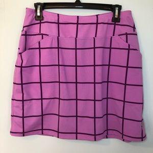 JoFit Purple Square Print Golf Skort